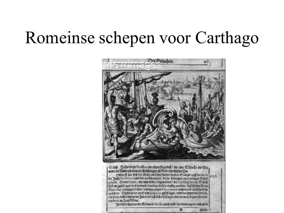 Romeinse schepen voor Carthago