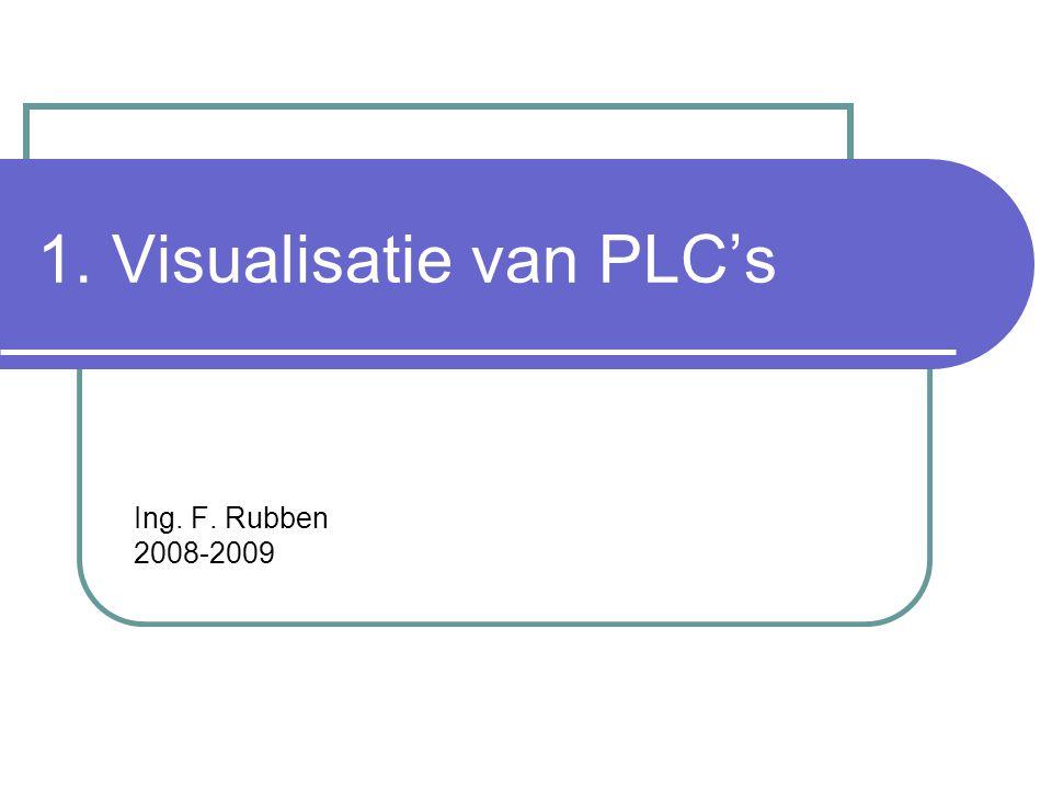 1. Visualisatie van PLC's Ing. F. Rubben 2008-2009