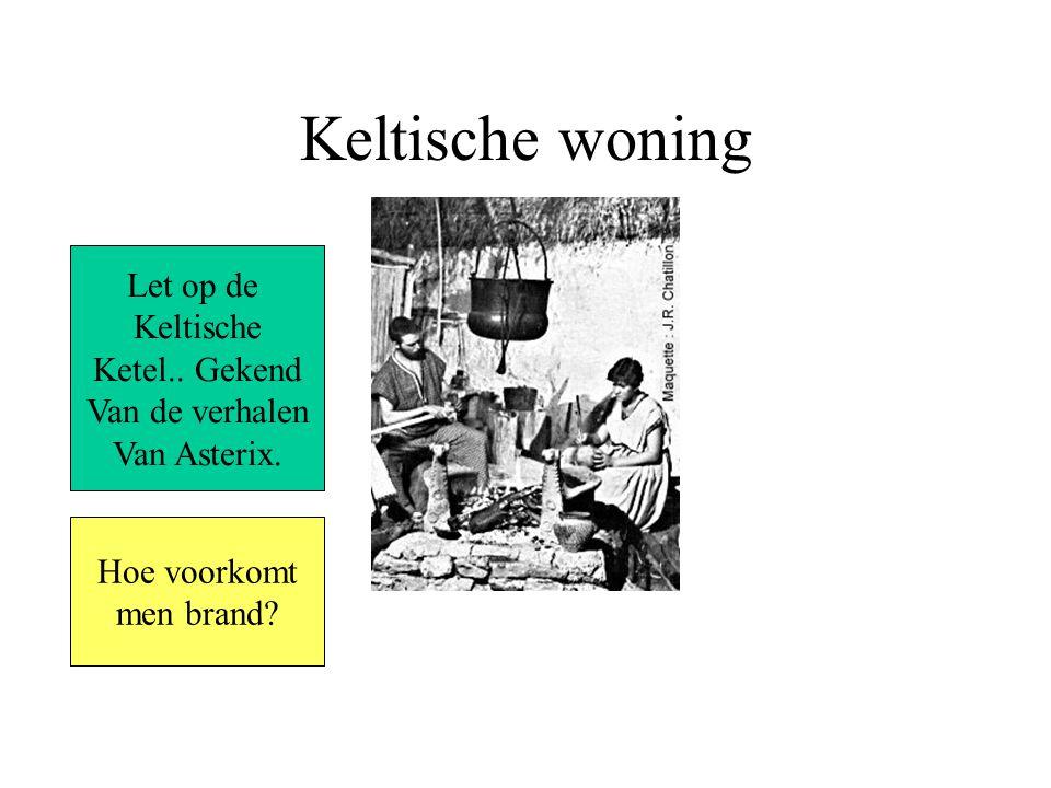Keltische woning Let op de Keltische Ketel..Gekend Van de verhalen Van Asterix.