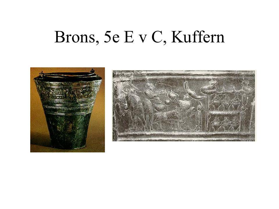 Brons, 5e E v C, Kuffern