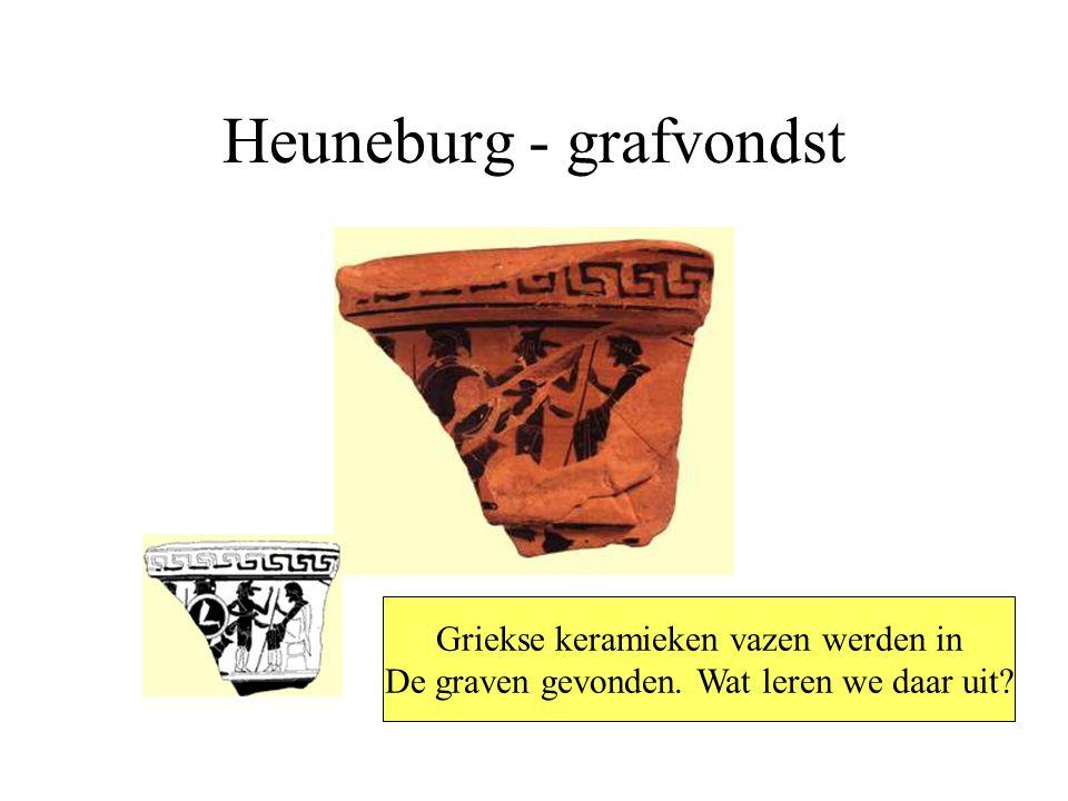 Heuneburg - grafvondst Griekse keramieken vazen werden in De graven gevonden.