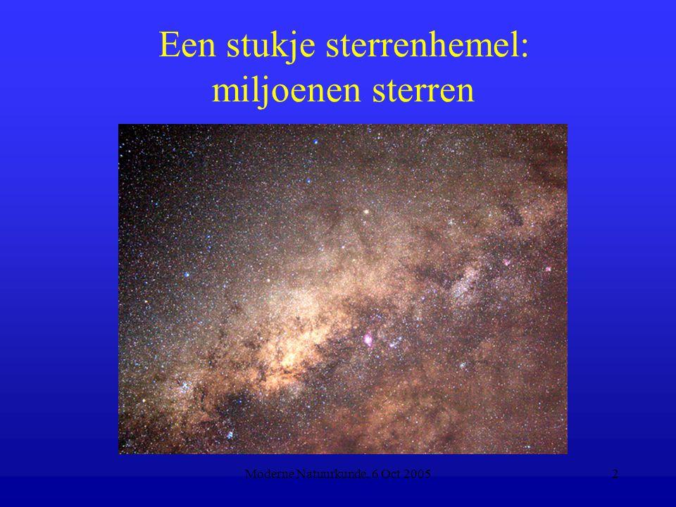 Moderne Natuurkunde, 6 Oct 20052 Een stukje sterrenhemel: miljoenen sterren