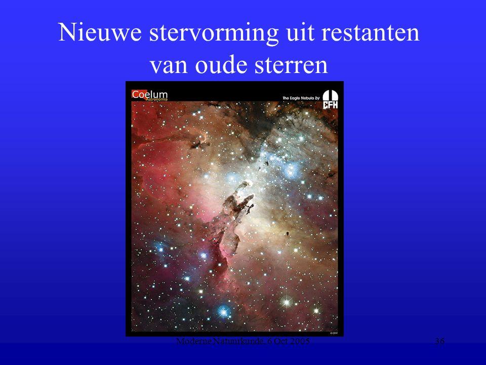 Moderne Natuurkunde, 6 Oct 200536 Nieuwe stervorming uit restanten van oude sterren