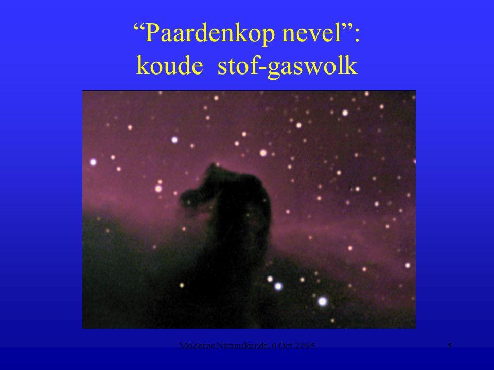 """Moderne Natuurkunde, 6 Oct 20055 """"Paardenkop nevel"""": koude stof-gaswolk"""