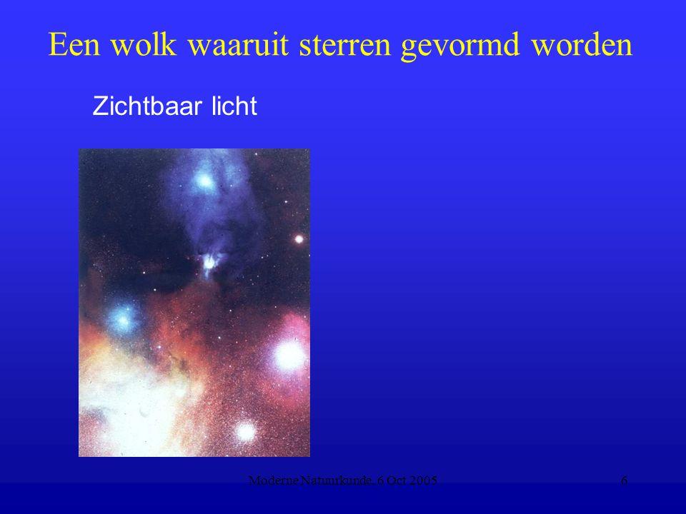 Moderne Natuurkunde, 6 Oct 20056 Een wolk waaruit sterren gevormd worden Zichtbaar licht