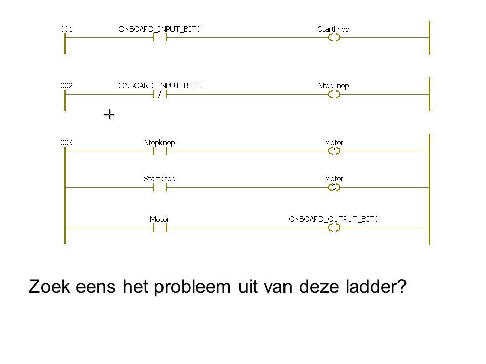 Zoek eens het probleem uit van deze ladder?