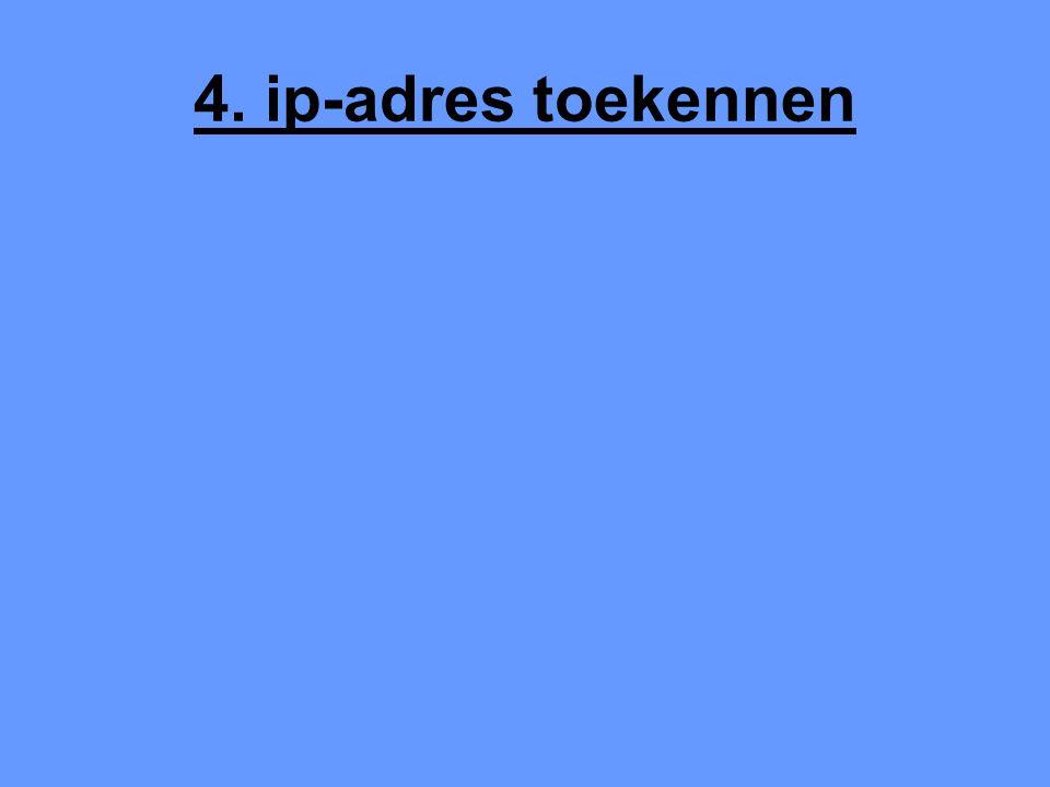 4. ip-adres toekennen