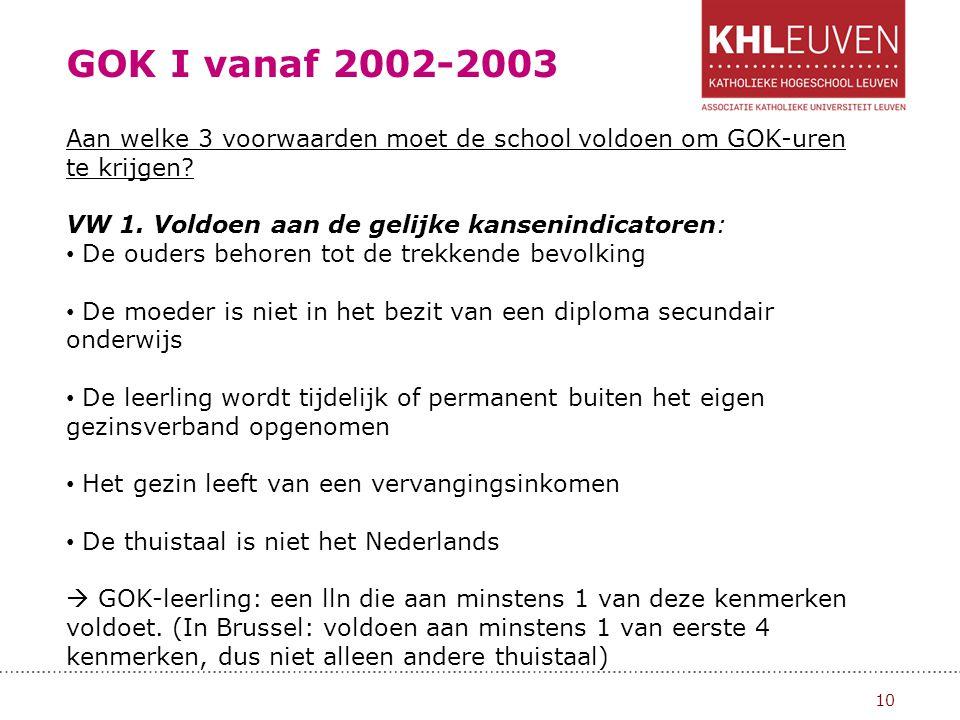 GOK I vanaf 2002-2003 11 VW 2.