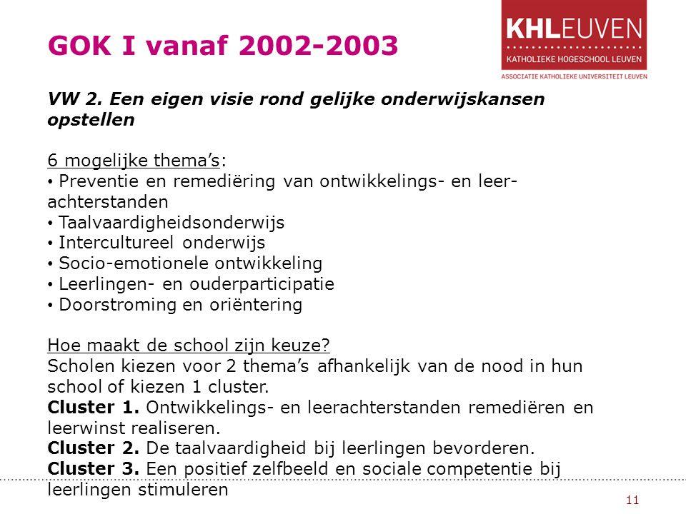GOK I vanaf 2002-2003 12 VW 3.