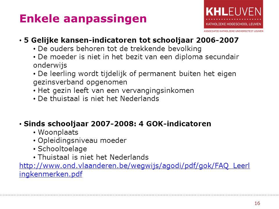 Enkele aanpassingen 17 Het jaar van de kleuter (schooljaar 2007-2008) Nastreven van kleuterparticipatie Om schoolachterstand te vermijden, moeten kleuters zo snel mogelijk en regelmatig naar school gaan.