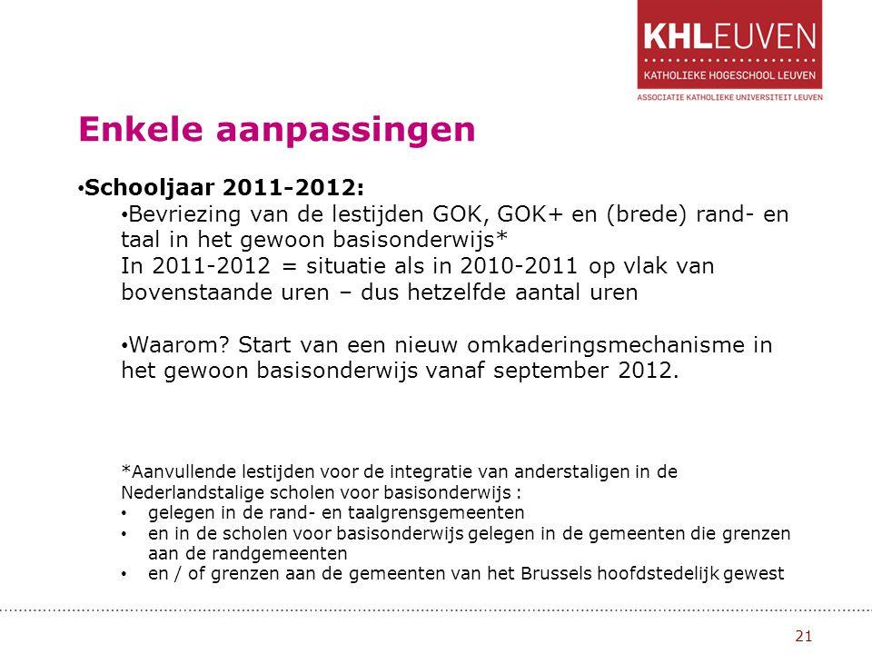 GOK III 22 Maatwerk in samenspraak 30 maart 2007 keurde de Vlaamse regering de conceptnota leerzorg goed: voor leerlingen met specifieke noden of een handicap.