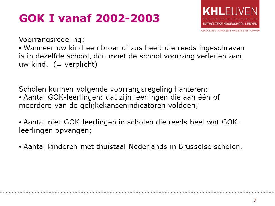 GOK I vanaf 2002-2003 8 Wat kunnen ouders doen indien ze niet akkoord zijn met een weigering of doorverwijzing.