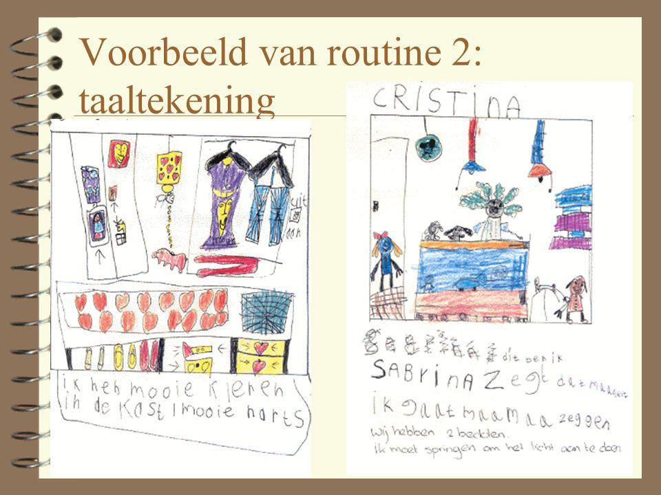 Voorbeeld van routine 2: taaltekening