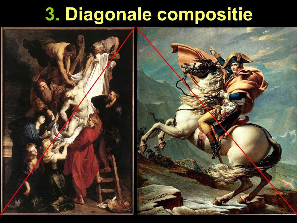 4.Centrale compositie De voorstelling is in het midden, beeldvullend, geplaatst.