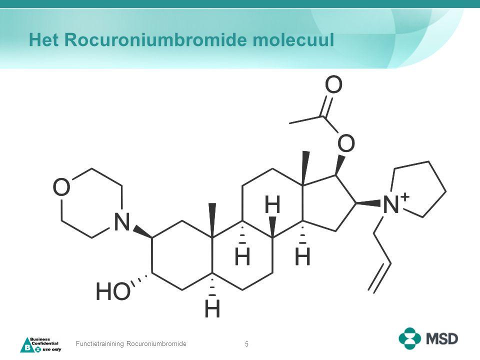 5 Functietrainining Rocuroniumbromide Het Rocuroniumbromide molecuul