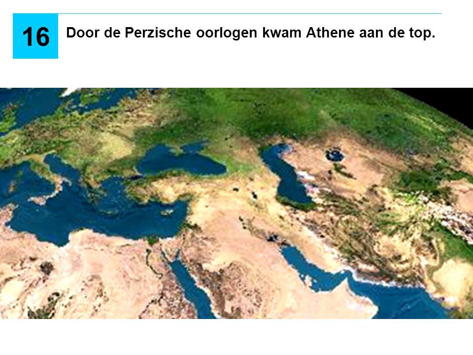 2 DE GRIEKSE SOLIDARITEIT REDDE HELLAS 490 v.C.: - De Vlakte van Marathon - Atheners en Plataïers tegen de Perzen - Atheners wonnen Door de Perzische oorlogen kwam Athene aan de top.