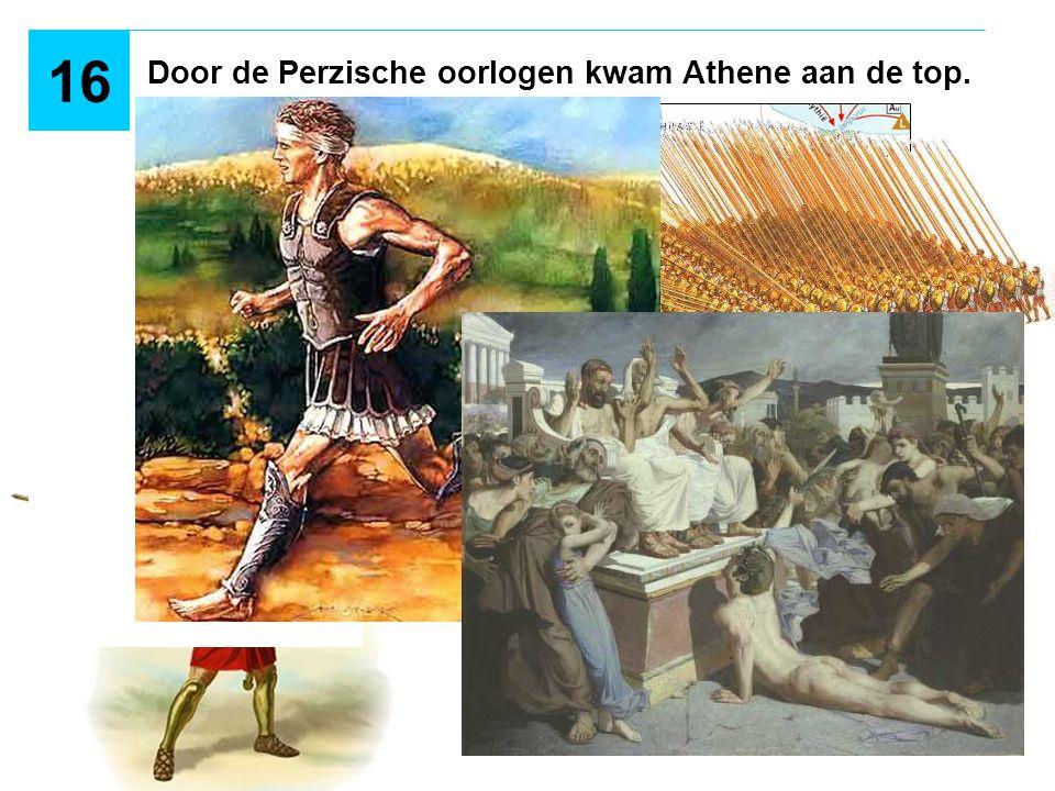 Door de Perzische oorlogen kwam Athene aan de top. 16 XERXES?