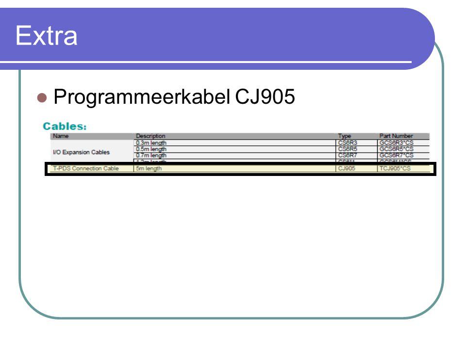 Extra Programmeerkabel CJ905