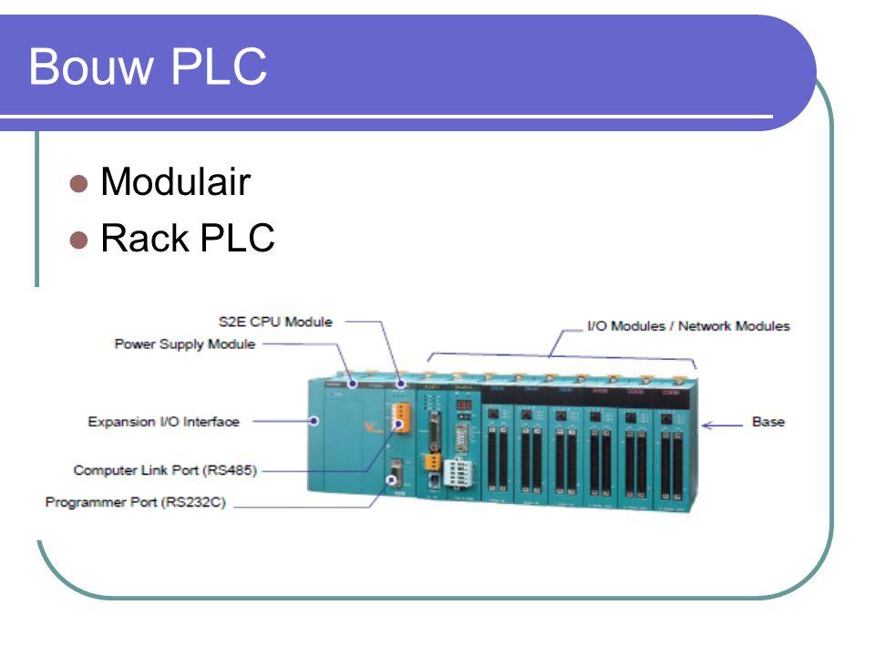 CPU of hart van de PLC: verschillende types Hangt af van het aantal modules.