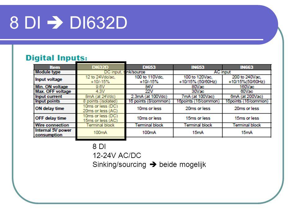 8 DI  DI632D 8 DI 12-24V AC/DC Sinking/sourcing  beide mogelijk