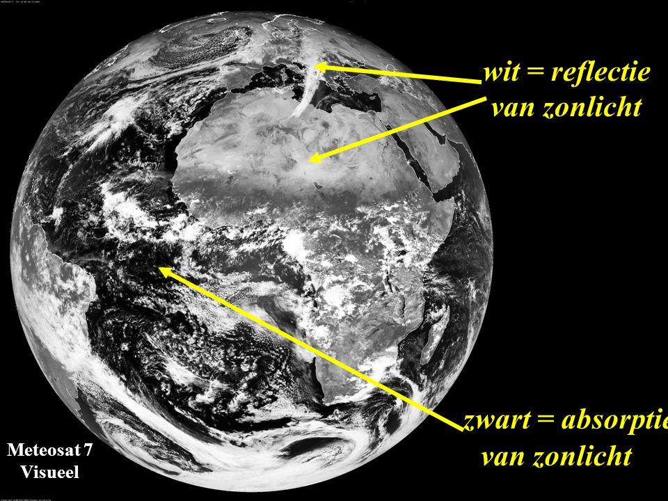 Meteosat 7 Visueel zonlichtabsorberend zonlichtreflecterend 1.