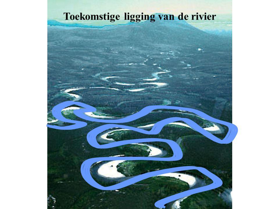 Toekomstige ligging van de rivier