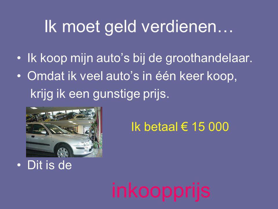 Ik verkoop de auto in mijn winkel. VERKOOPPRIJS = € 18 500