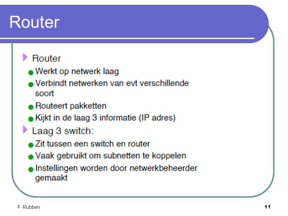 F. Rubben11 Router