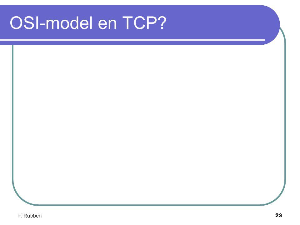 F. Rubben23 OSI-model en TCP?