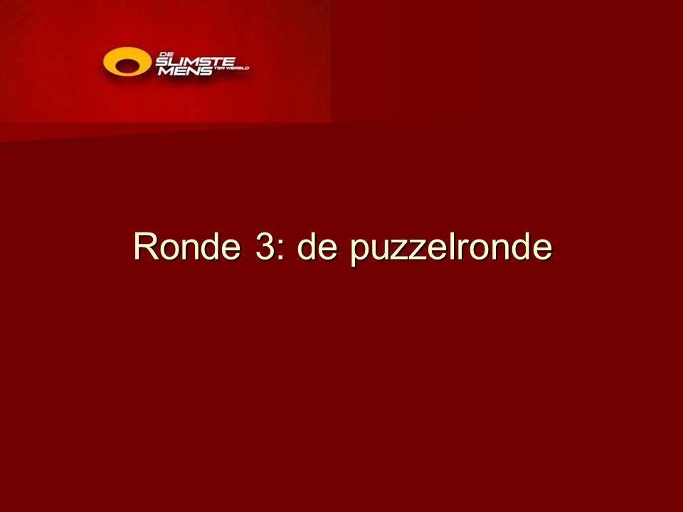 Ronde 3: de puzzelronde