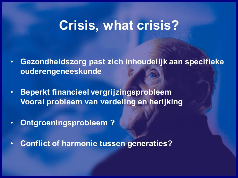 Crisis, what crisis.