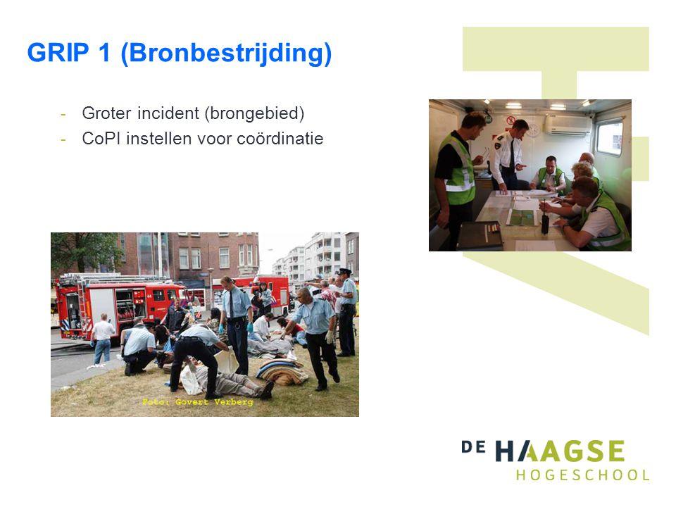 GRIP 1 (Bronbestrijding) - Groter incident (brongebied) - CoPI instellen voor coördinatie