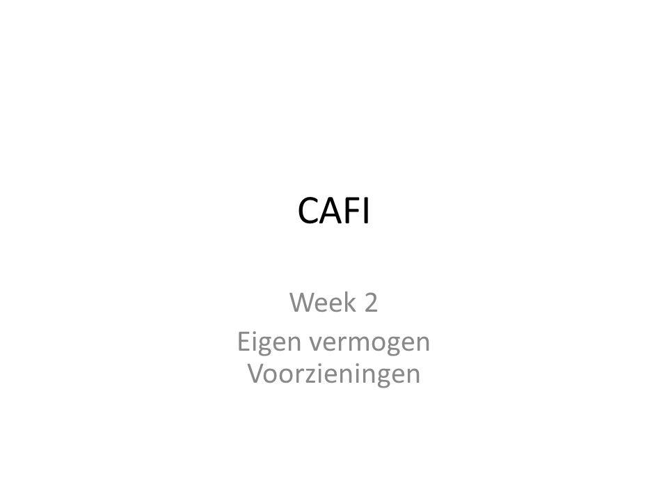CAFI Week 2 Eigen vermogen Voorzieningen