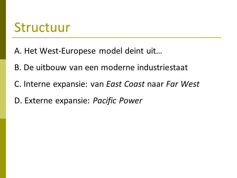 Structuur A.Het West-Europese model deint uit… B.