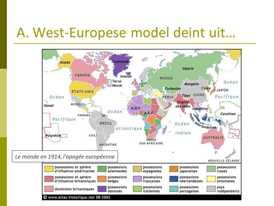 A. West-Europese model deint uit… Le monde en 1914, l apogée européenne