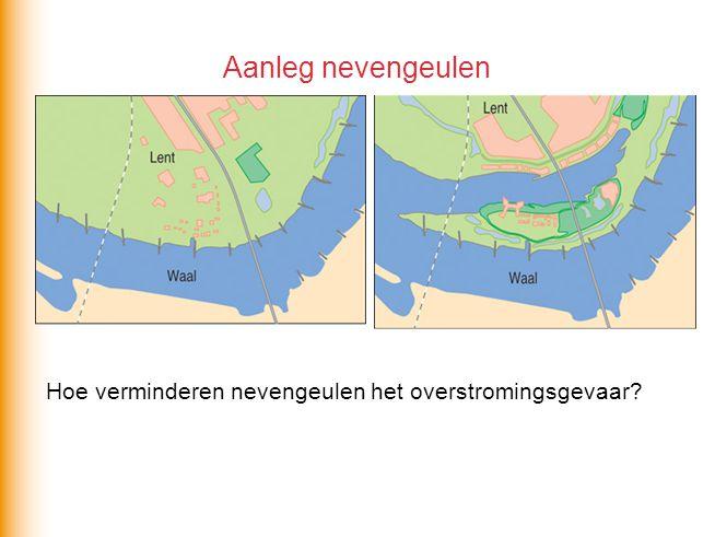 Aanleg nevengeulen Hoe verminderen nevengeulen het overstromingsgevaar?