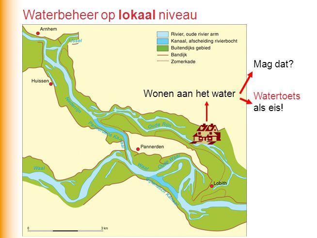 Wonen aan het water Mag dat? Watertoets als eis! Waterbeheer op lokaal niveau