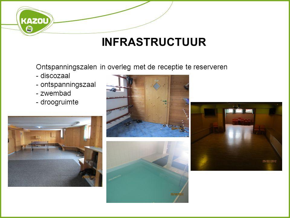 INFRASTRUCTUUR Ontspanningszalen in overleg met de receptie te reserveren - discozaal - ontspanningszaal - zwembad - droogruimte