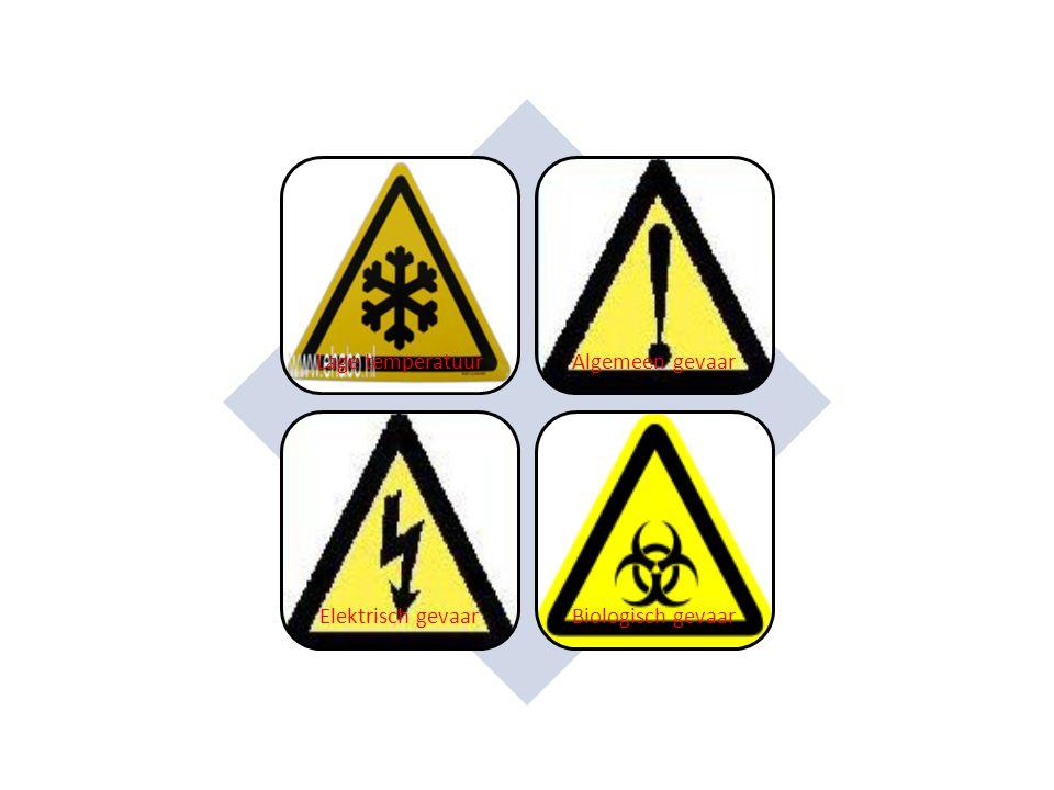 Lage temperatuurAlgemeen gevaar Elektrisch gevaarBiologisch gevaar