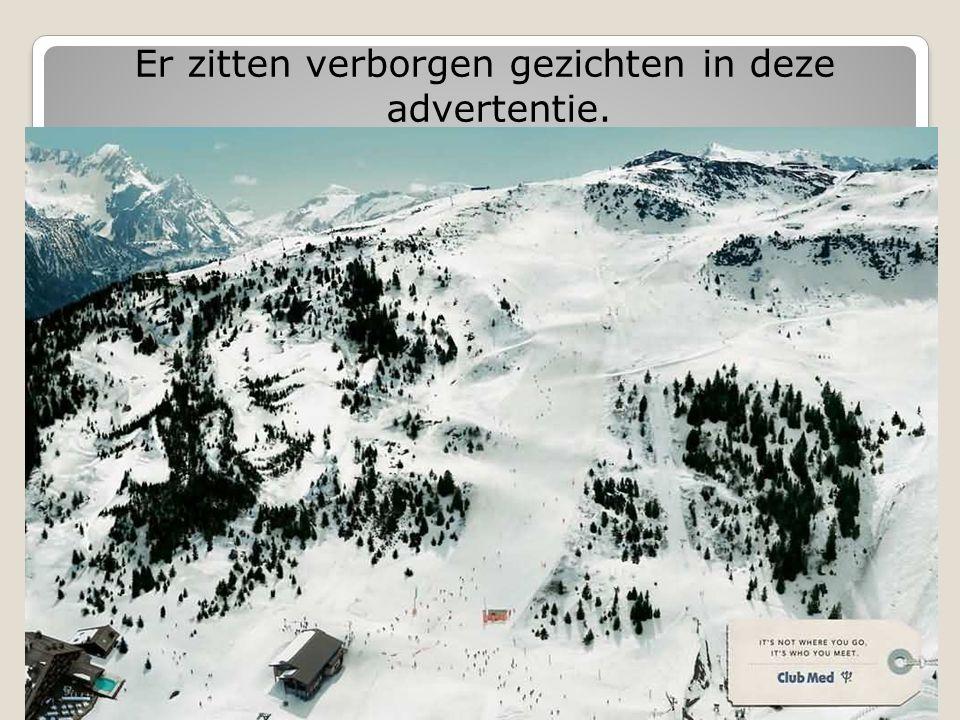 Er zitten verborgen gezichten in deze advertentie.