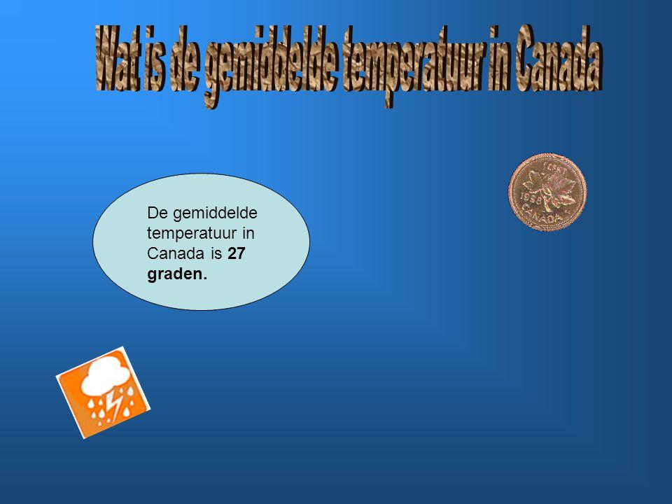 De koudst gemeten temperatuur in Canada is -62.8 graden.