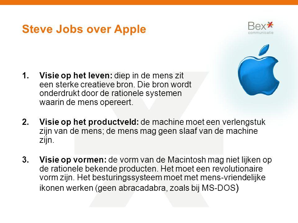 Steve Jobs over Apple 1.Visie op het leven: diep in de mens zit een sterke creatieve bron.