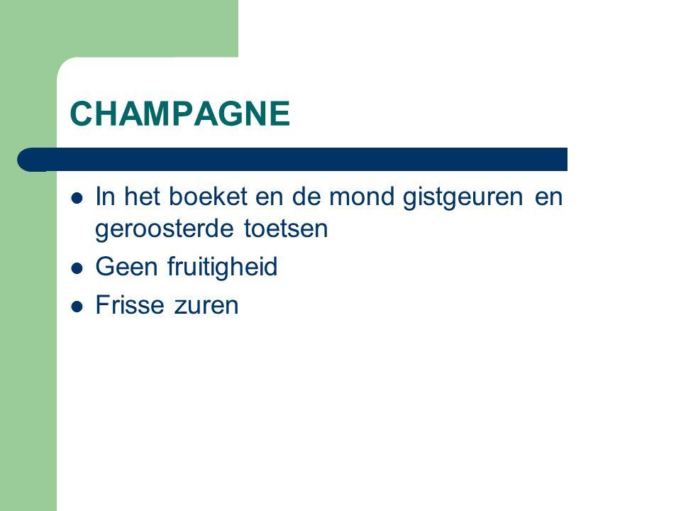 CREMANT  Verdeling most niet zo nauwkeurig  Moussevorming zoals voor Champagne  Minstens 9 maanden sur lie