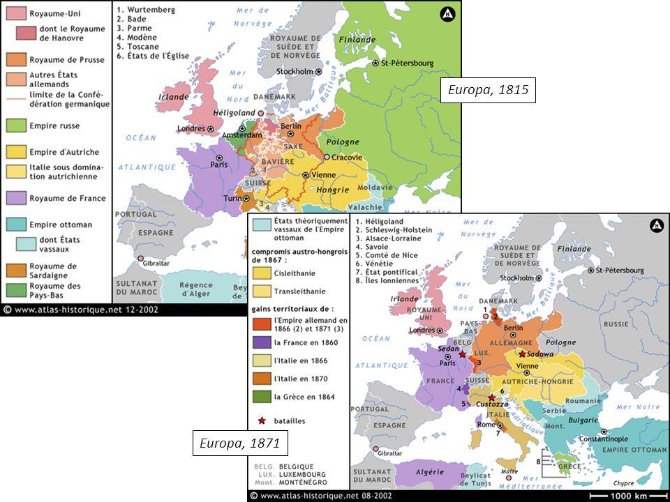 Europa, 1815 Europa, 1871