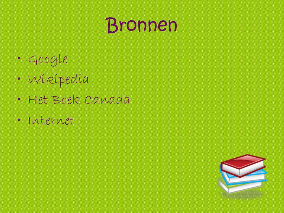 Bronnen Google Wikipedia Het Boek Canada Internet