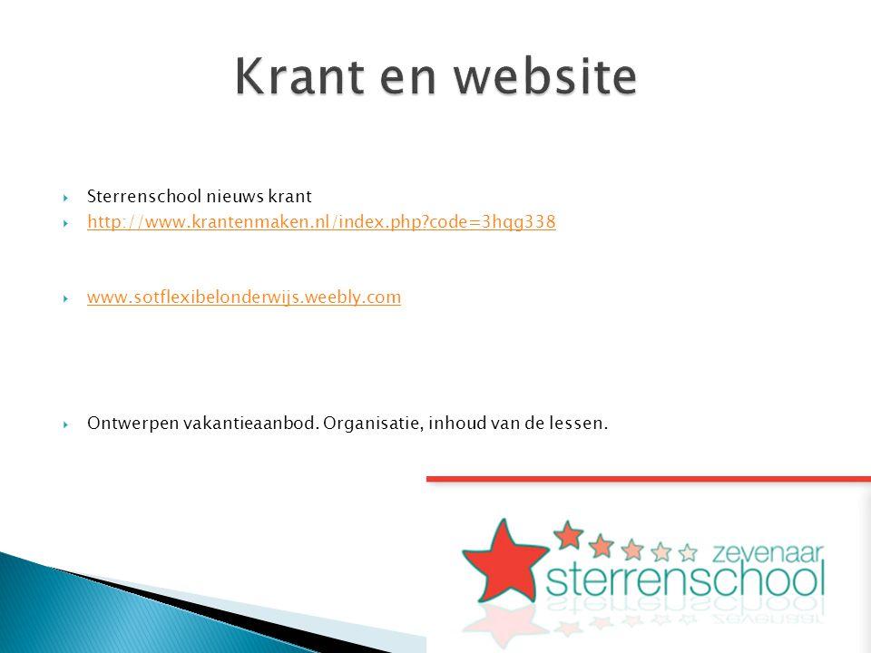  Sterrenschool nieuws krant  http://www.krantenmaken.nl/index.php?code=3hqg338 http://www.krantenmaken.nl/index.php?code=3hqg338  www.sotflexibelon