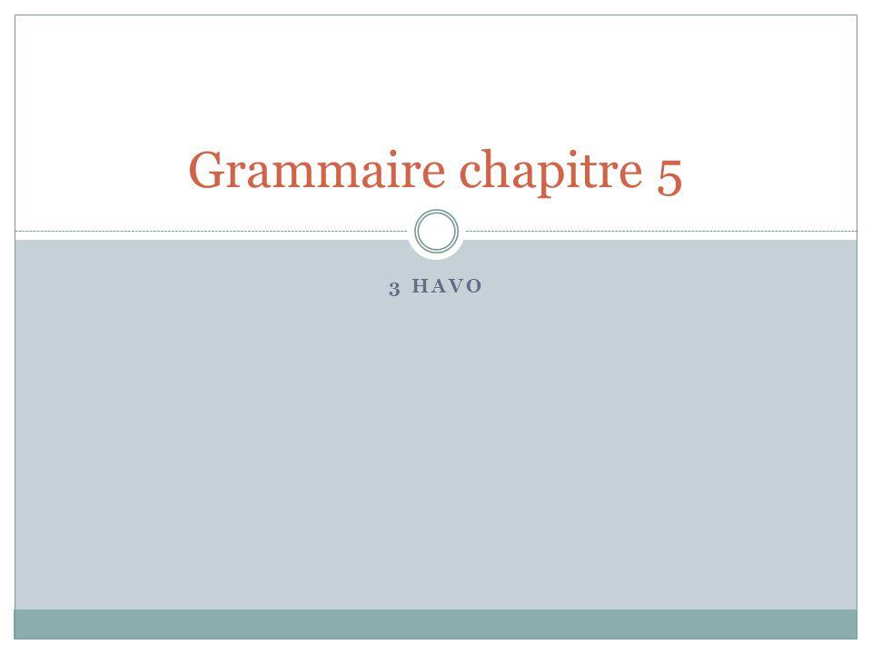 3 HAVO Grammaire chapitre 5