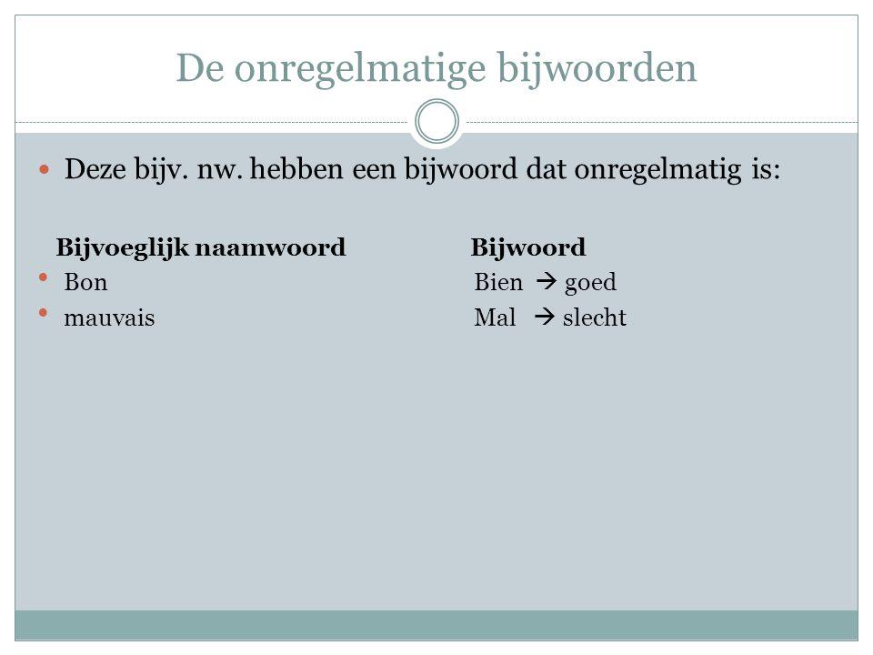 Het werkwoord devoir moeten Kijk in leconjugueur.com voor de vervoeging in le présent, imparfait en passé composé.