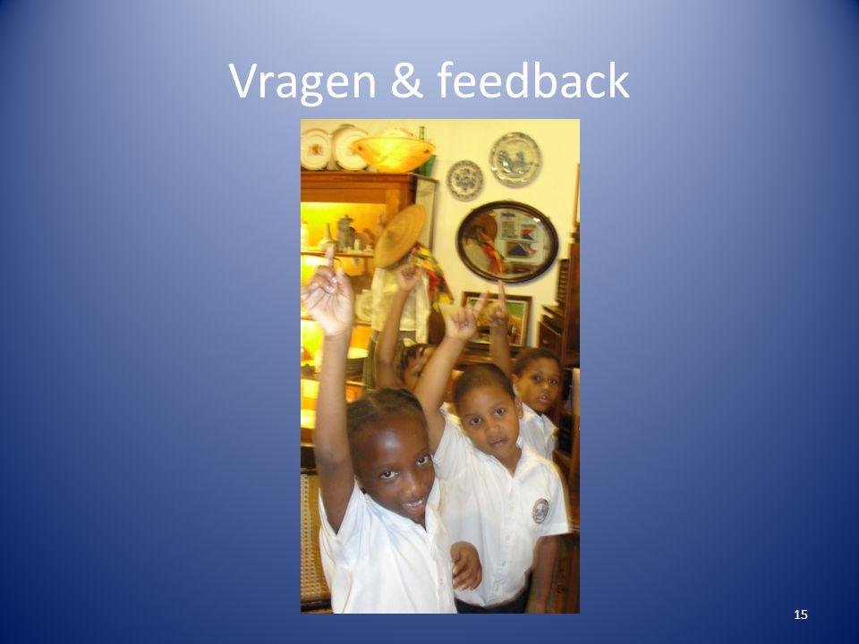 Vragen & feedback 15