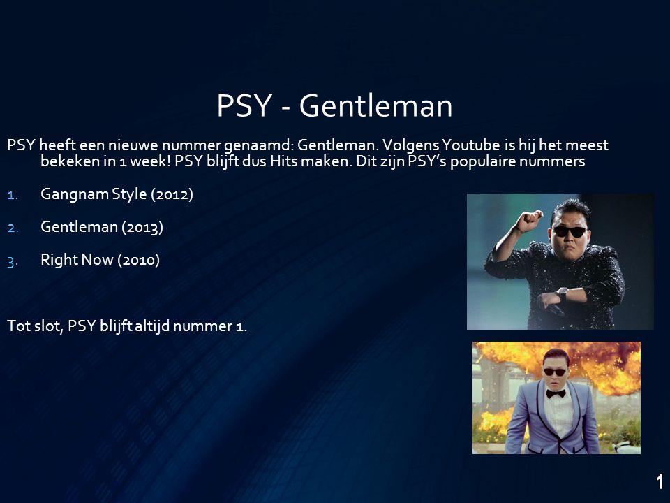 PSY - Gentleman PSY heeft een nieuwe nummer genaamd: Gentleman.